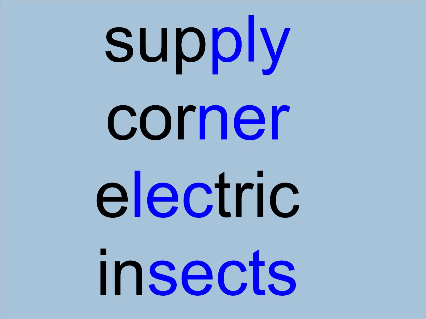 supply corner electric insects