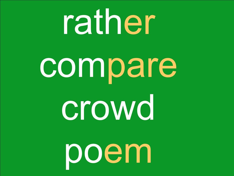 rather compare crowd poem