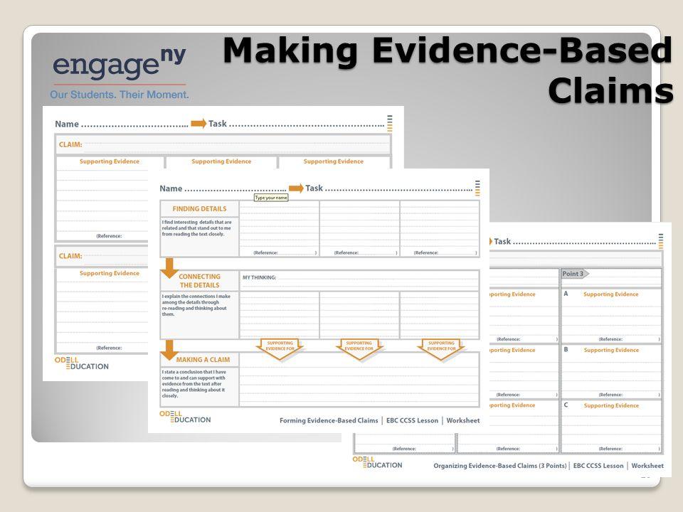 28 Making Evidence-Based Claims