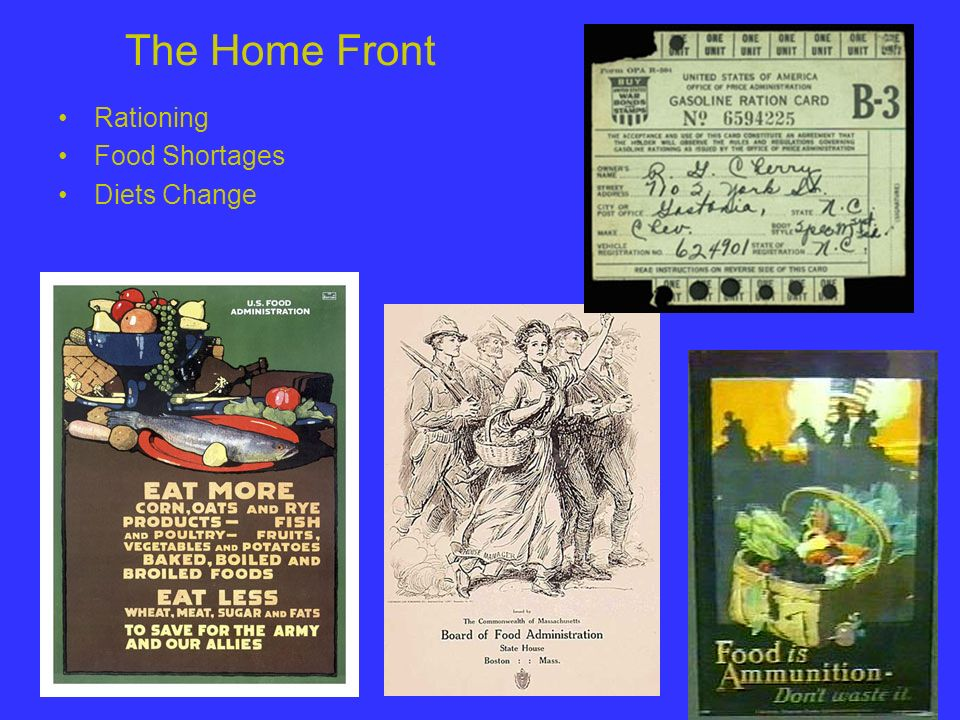 The Home Front Rationing Food Shortages Diets Change