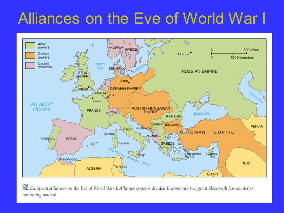 Alliances on the Eve of World War I