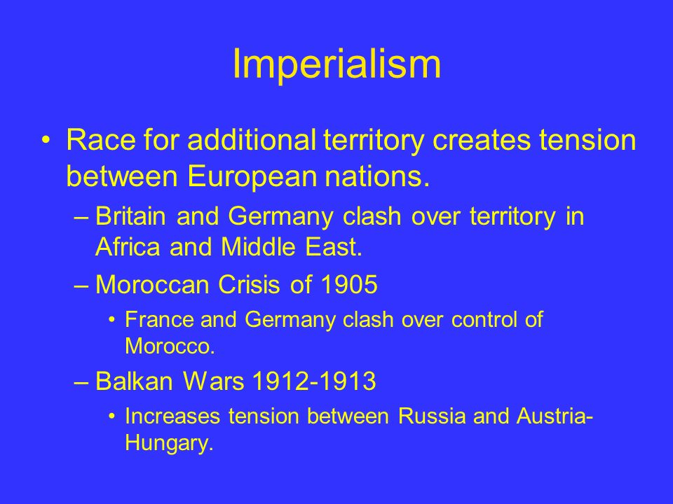 Militarism Size of European militaries doubled between 1890 and 1914.