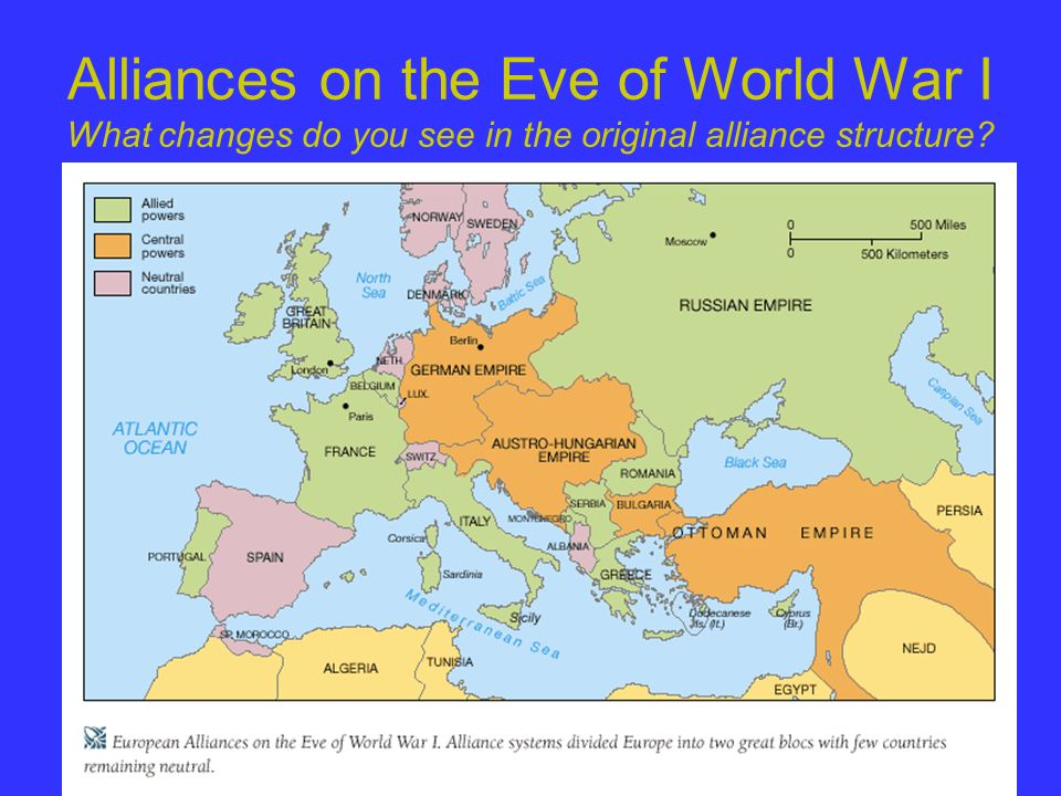 Alliances on the Eve of World War I What changes do you see in the original alliance structure?
