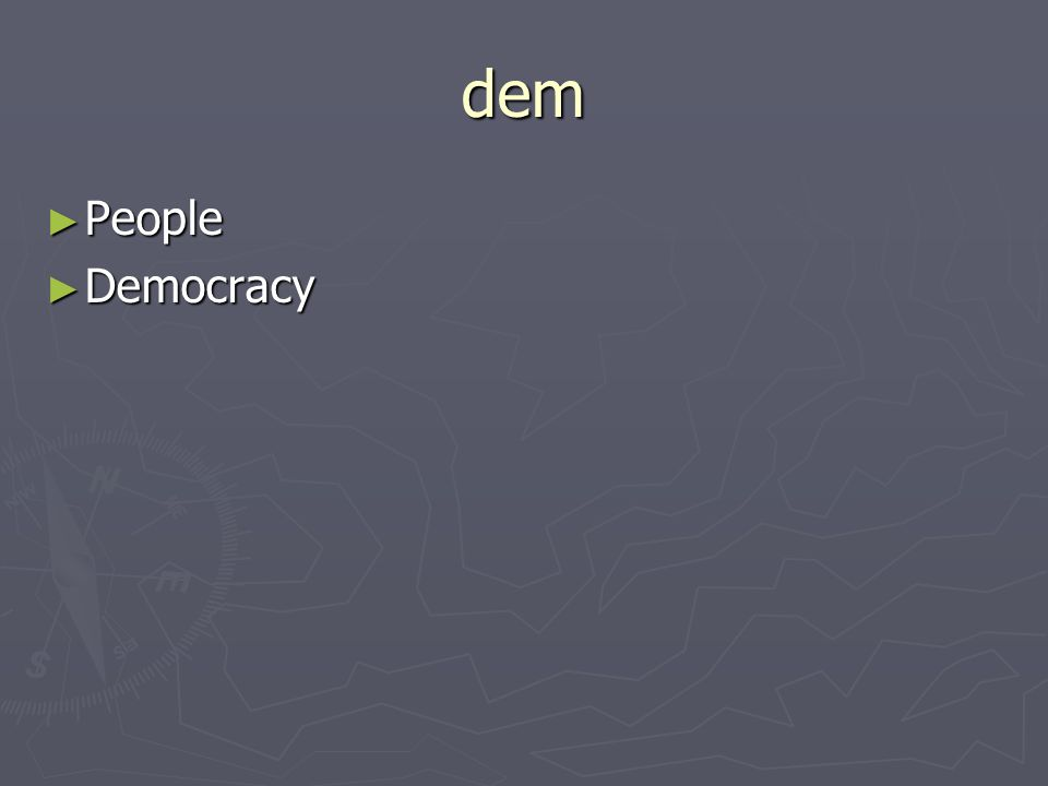 dem People People Democracy Democracy