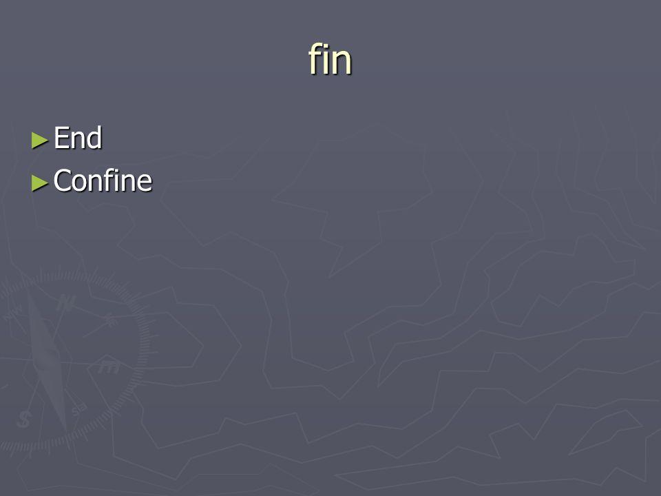 fin End End Confine Confine