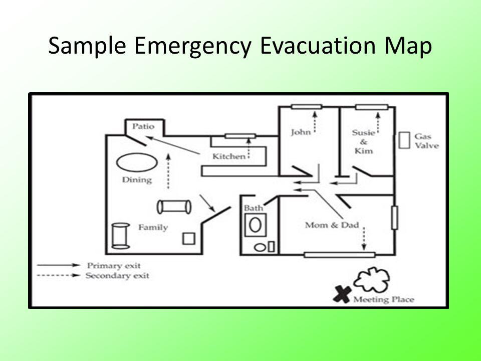 Sample Emergency Evacuation Map