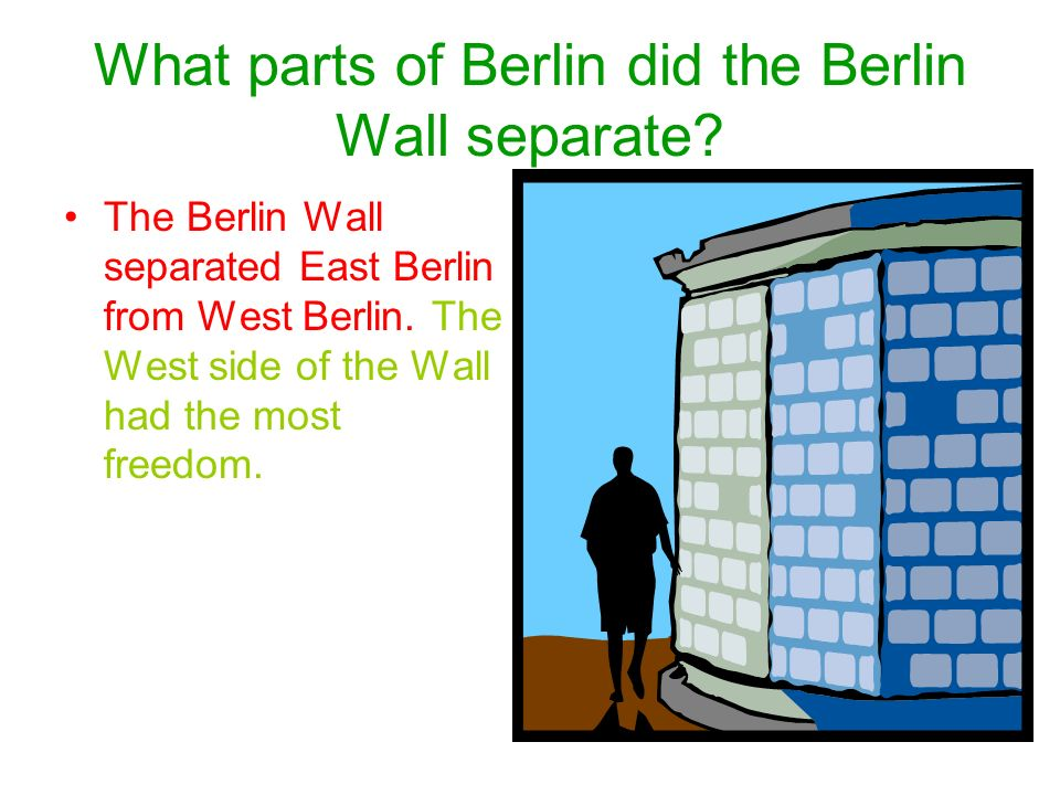 What parts of Berlin did the Berlin Wall separate.