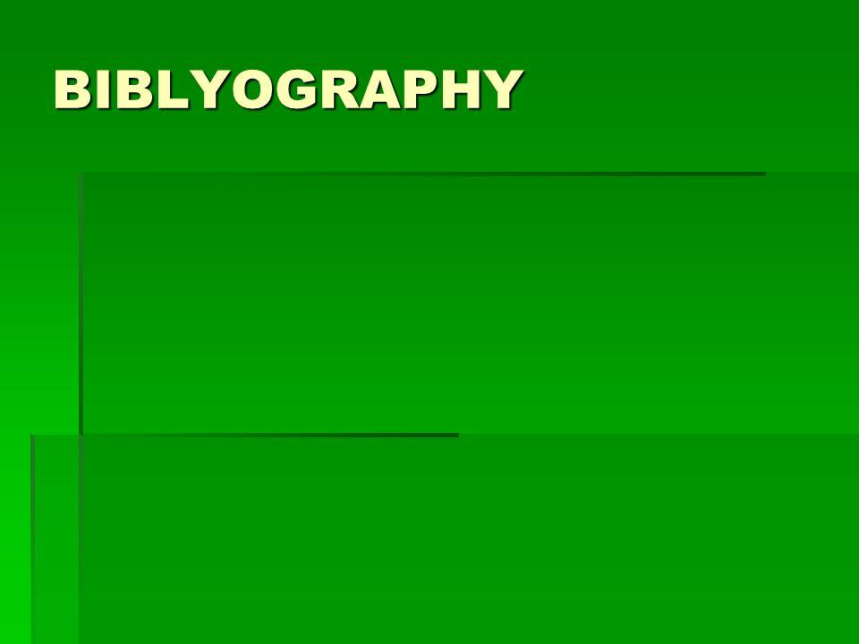 BIBLYOGRAPHY
