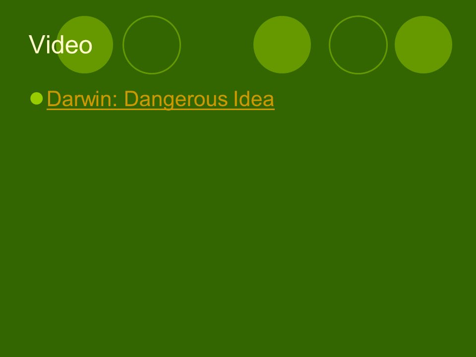 Video Darwin: Dangerous Idea