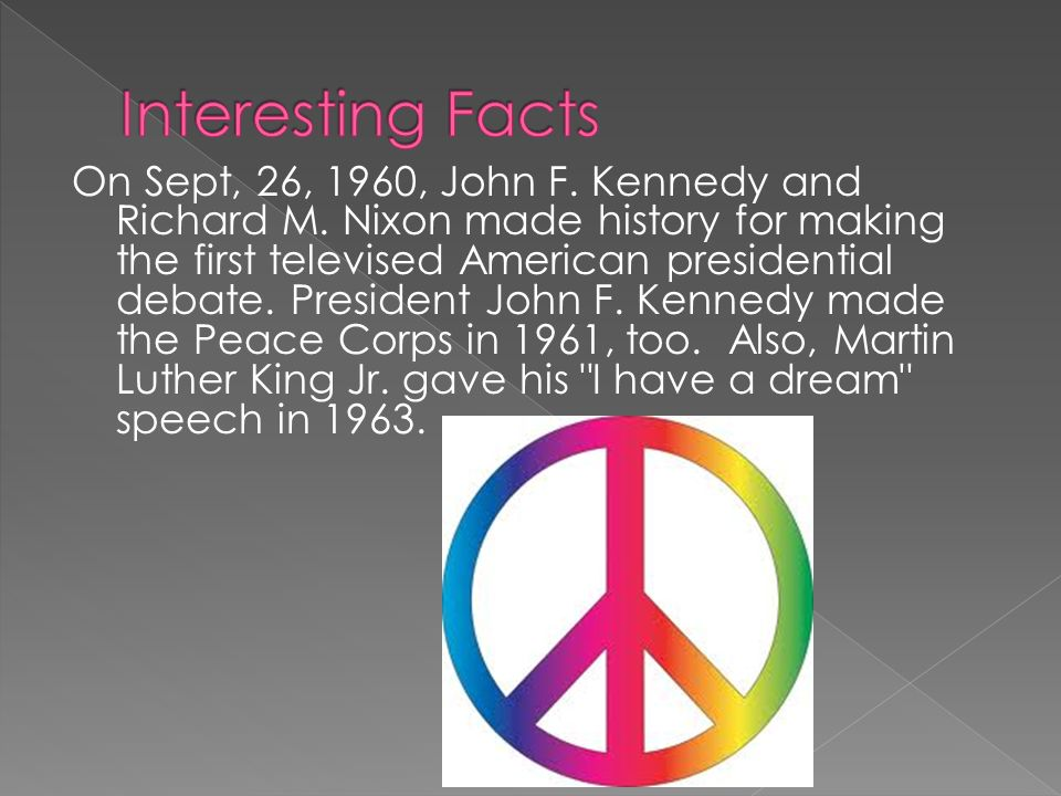 On Sept, 26, 1960, John F. Kennedy and Richard M.