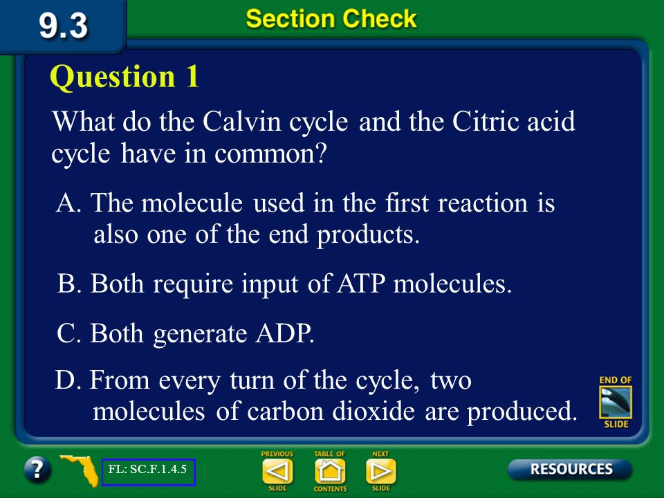Section 9.3 Summary – pages 231-237 Comparing Photosynthesis and Cellular Respiration Photosynthesis Cellular Respiration Food synthesized Food broken