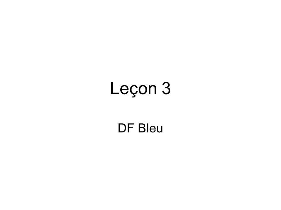 Leçon 3 DF Bleu