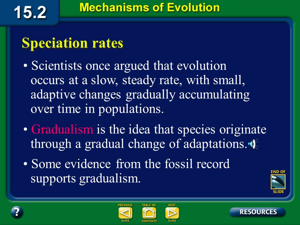 Section 15.2 Summary– pages 404-413 A change in chromosome numbers and speciation