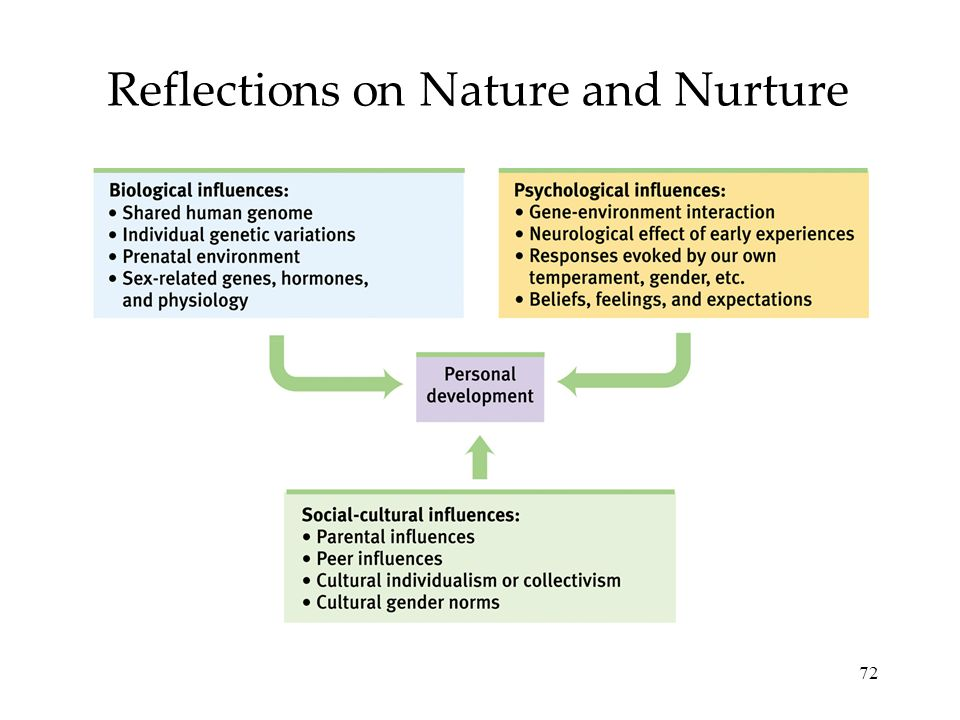 72 Reflections on Nature and Nurture