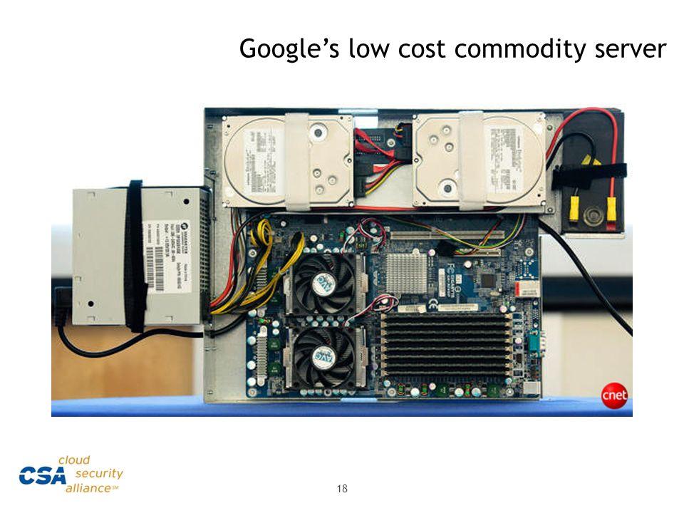 Googles low cost commodity server 18