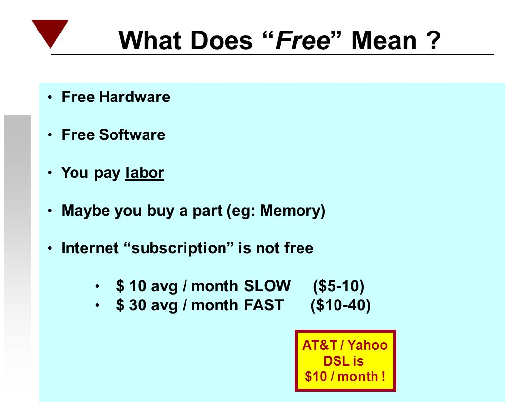 What Does Free Mean .