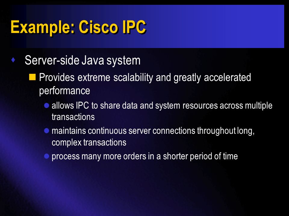 Example: Cysive - Cisco Internetworking Products Center