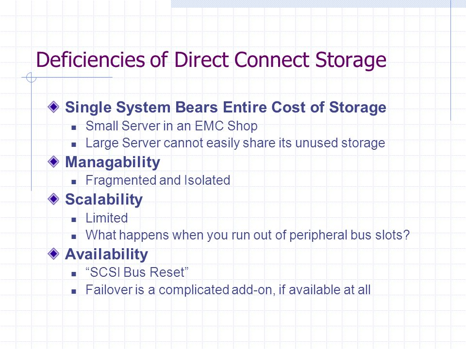 DASD Direct Access Storage Device They still call it this in an IBM Mainframe Shop Basic Limits of Disk Storage Recognized Latency Rotation Speed of the disk Seek Time Radial Movement of the Read/Write Heads Buffer Sizes Stop sending me data, I cant write fast enough!