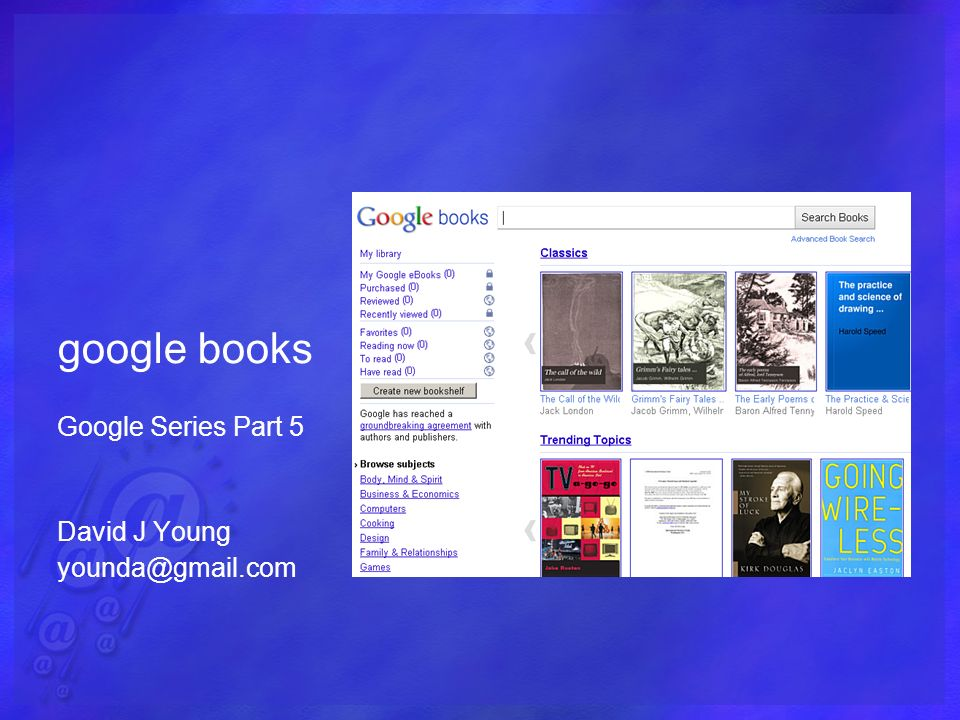 google books Google Series Part 5 David J Young