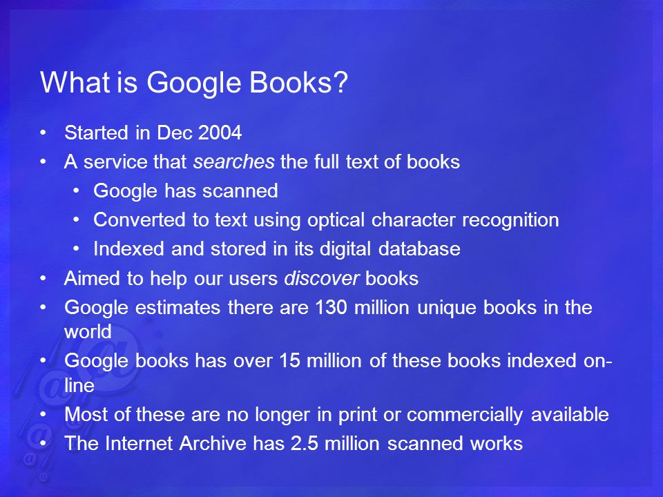 What is Google Books.