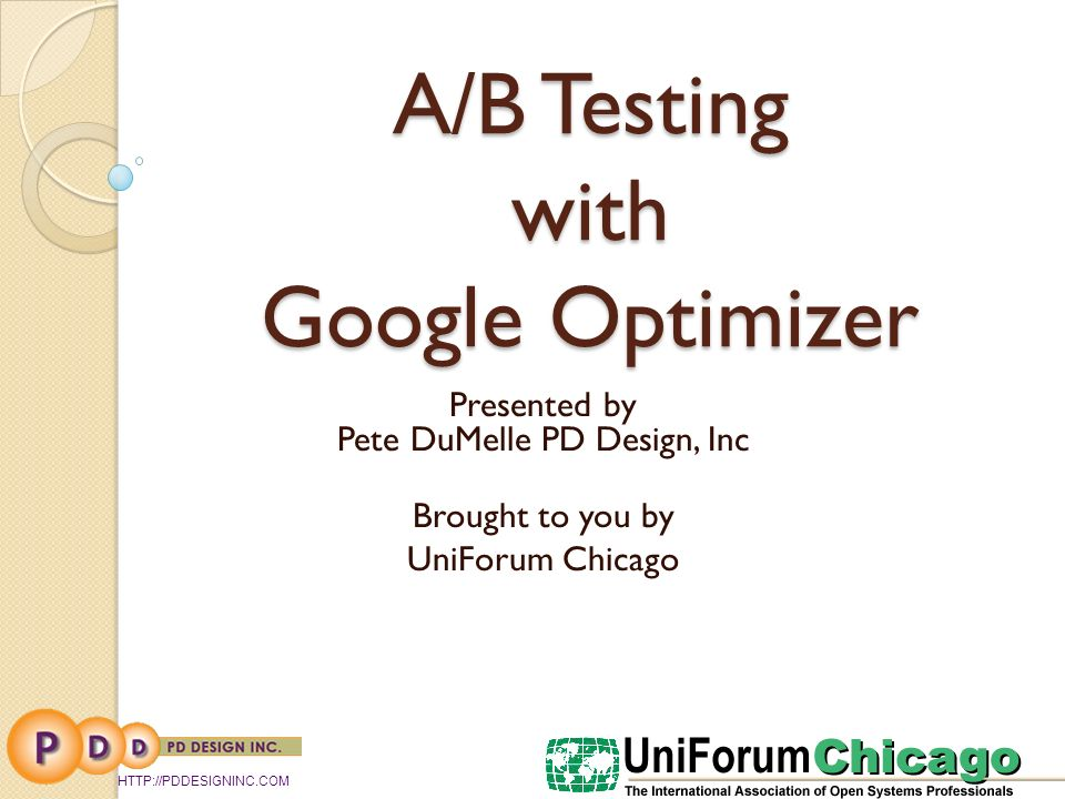 Overview What is A/B Testing How to use Google Optimizer Other ways to use A/B Testing