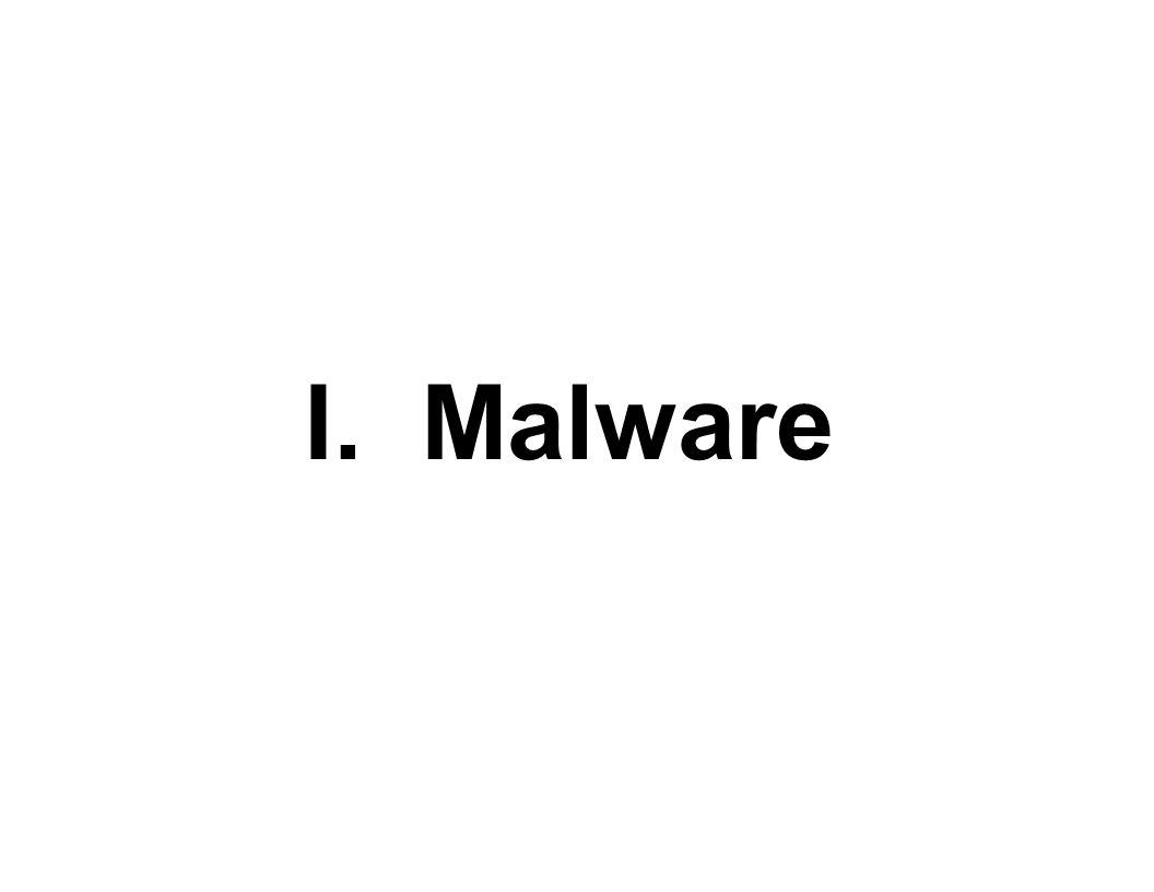 I. Malware