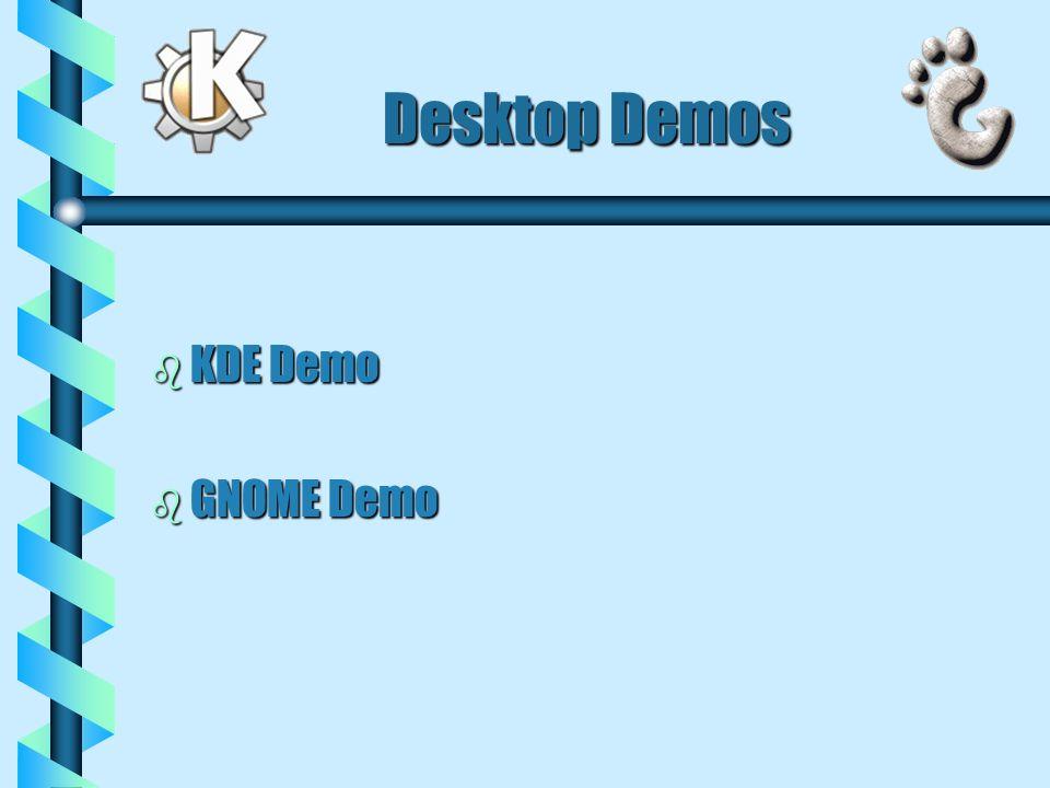 Desktop Demos b KDE Demo b GNOME Demo