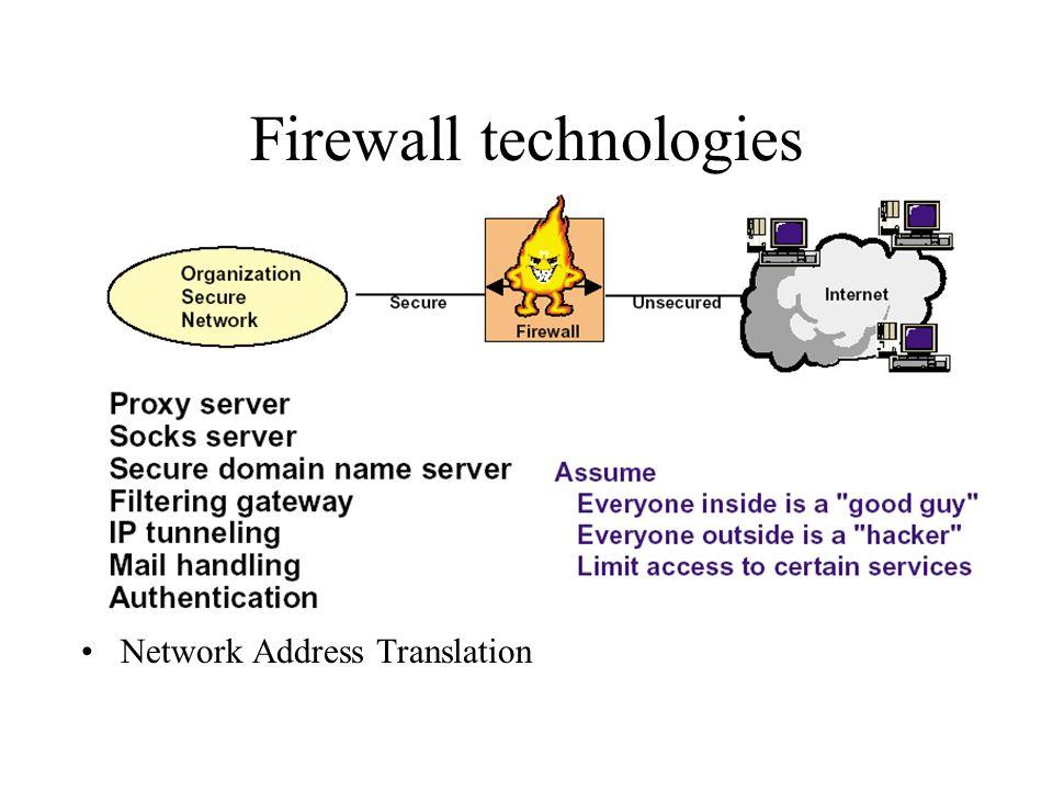 Firewall technologies Network Address Translation