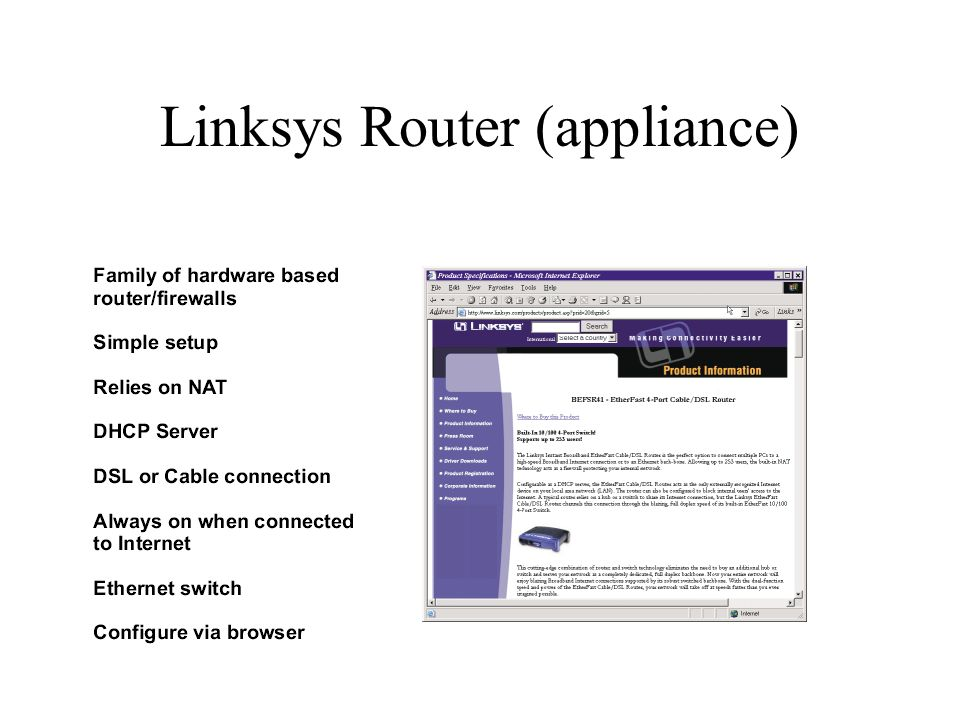 Linksys Router (appliance)