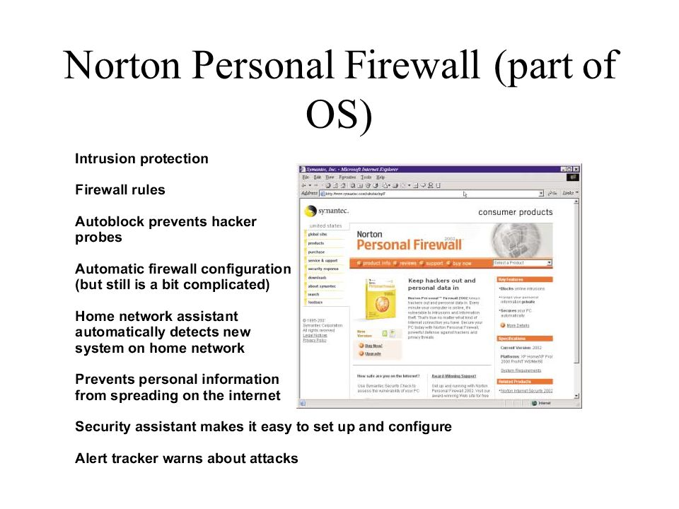 Norton Personal Firewall (part of OS)
