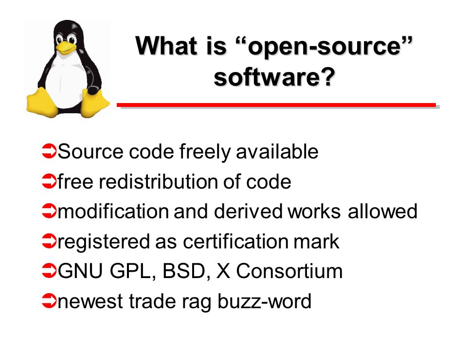 What is open-source software.