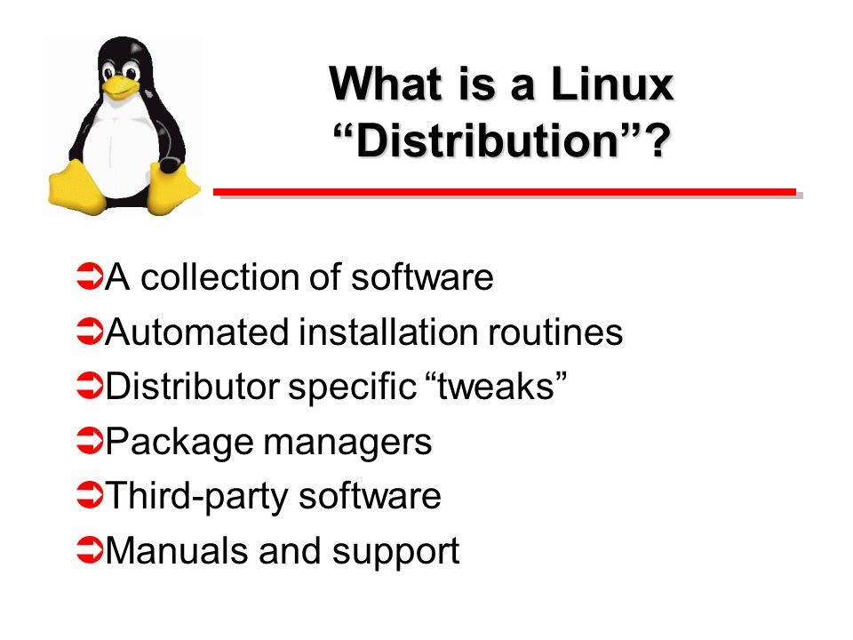 What is a Linux Distribution.
