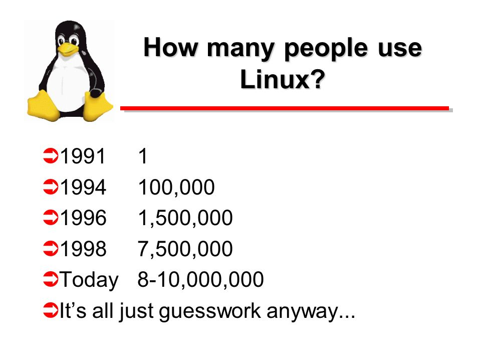 How many people use Linux.