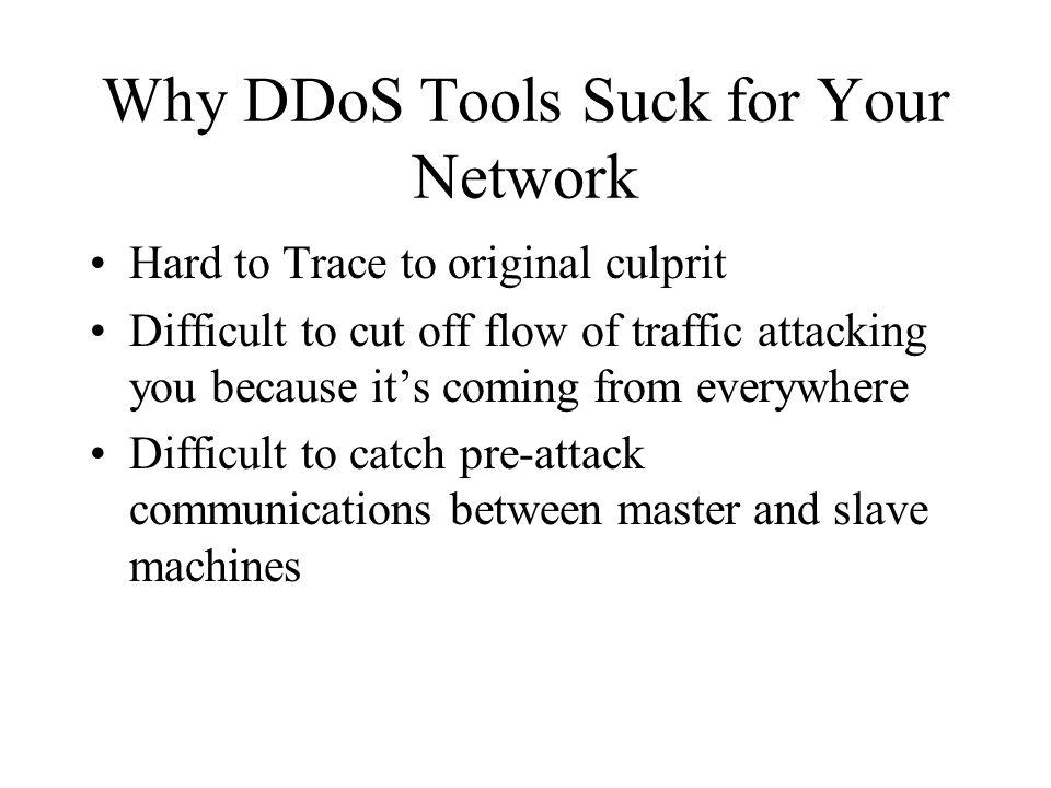 DDoS Attacks (3-tier) Master Slave Victim D00d!