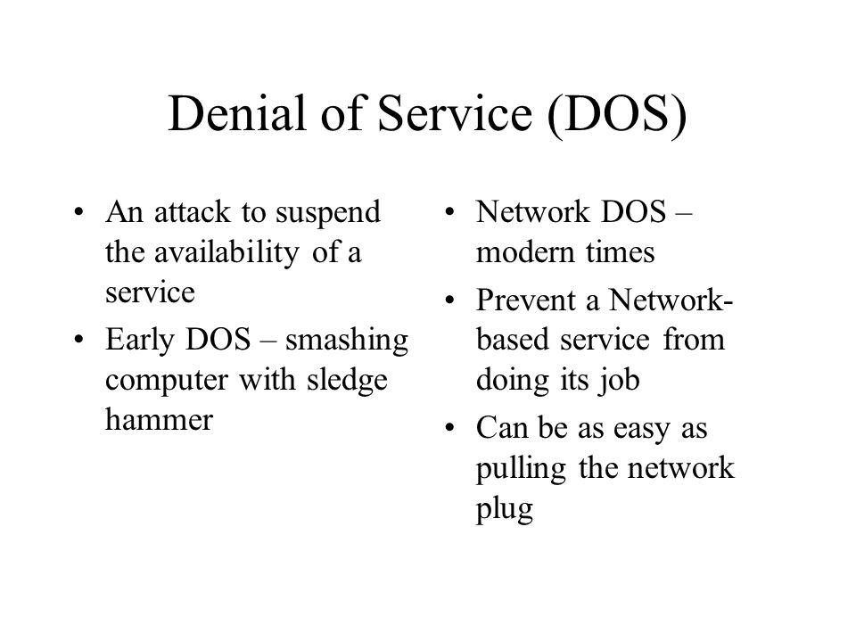 Tonights Talk t is DDoS What is DDoS.