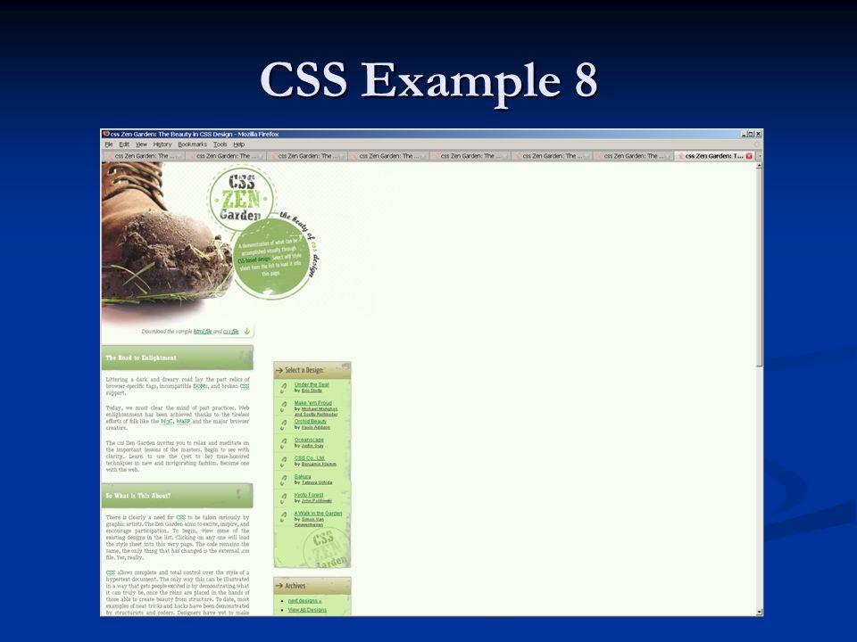 CSS Example 8