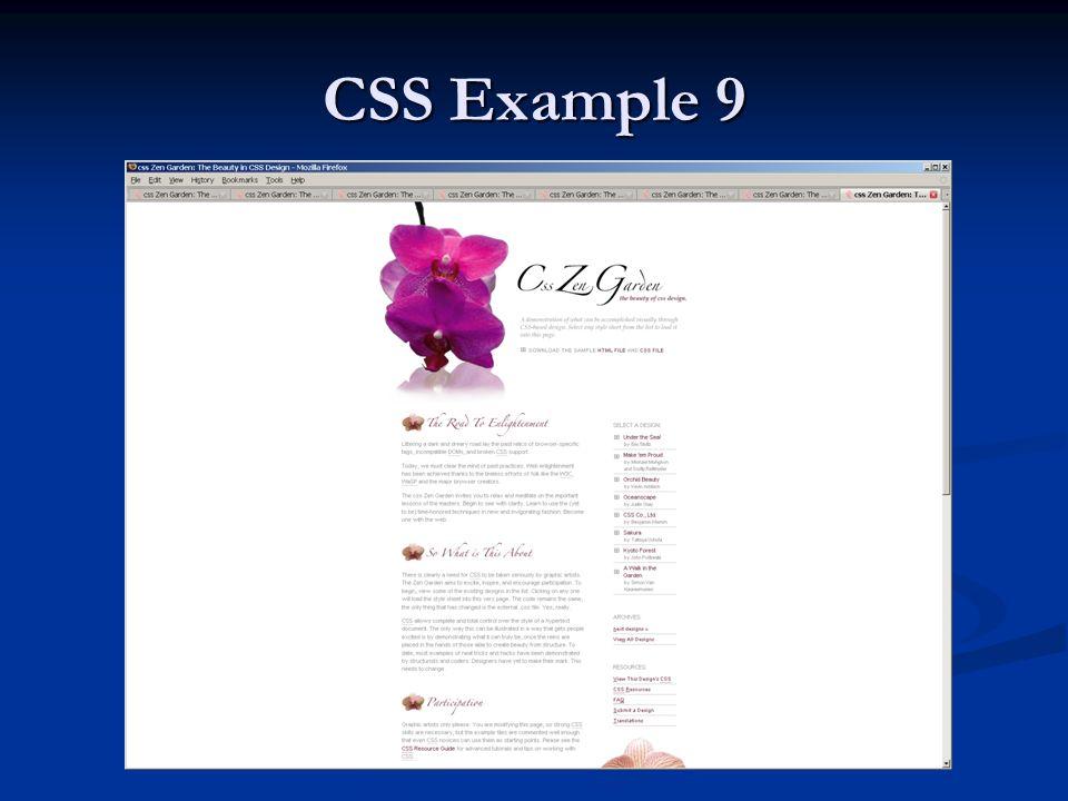 CSS Example 9