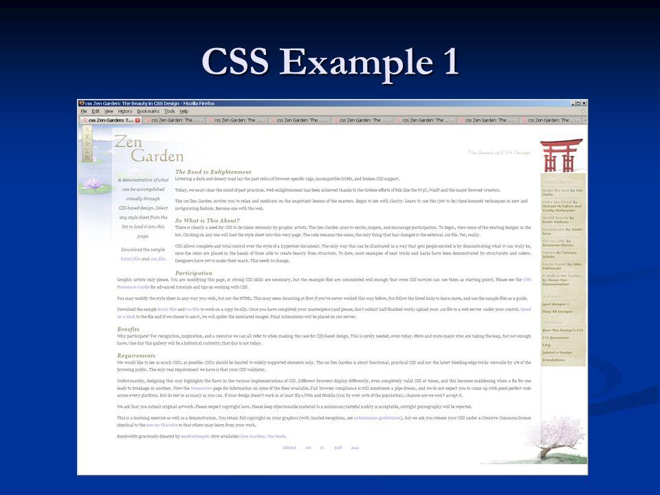 CSS Example 1