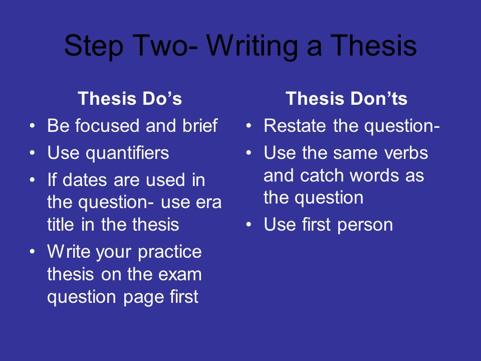 Thesis Theses