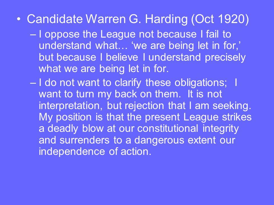 Candidate Warren G.