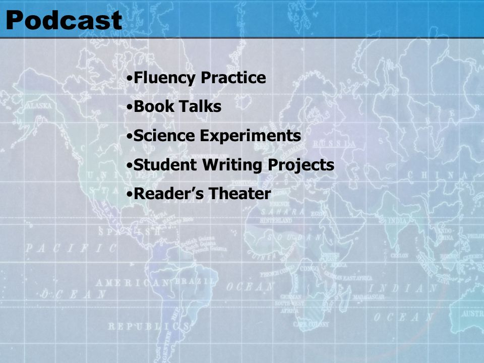 Podcast Fluency Practice Book Talks Science Experiments Student Writing Projects Readers Theater