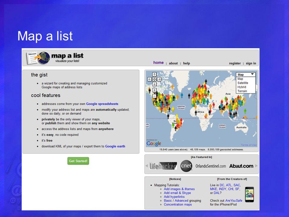 Map a list