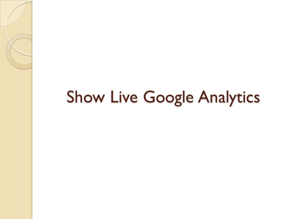 Show Live Google Analytics