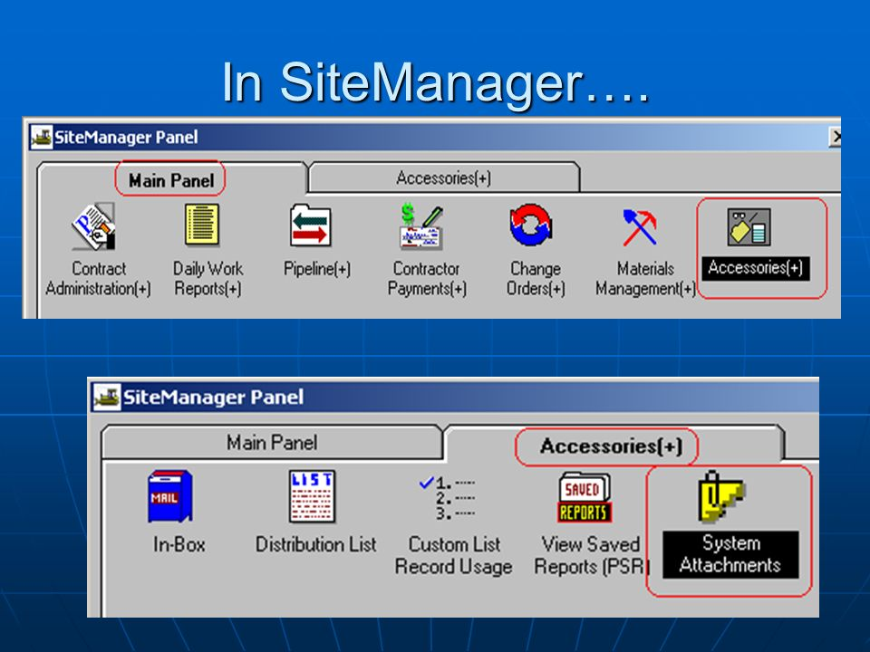 In SiteManager….