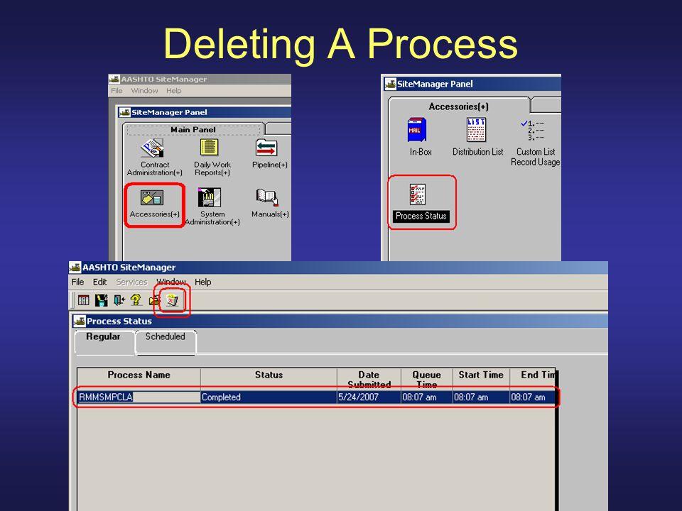 Deleting A Process