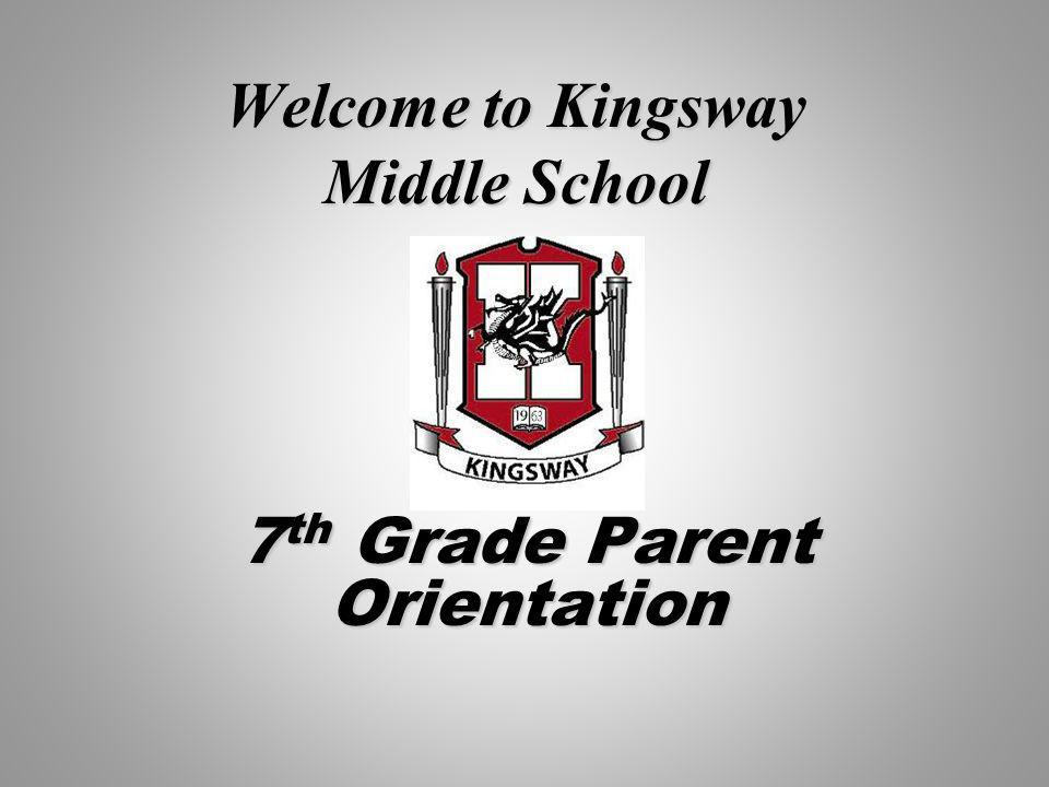 Welcome to Kingsway Middle School 7 th Grade Parent Orientation
