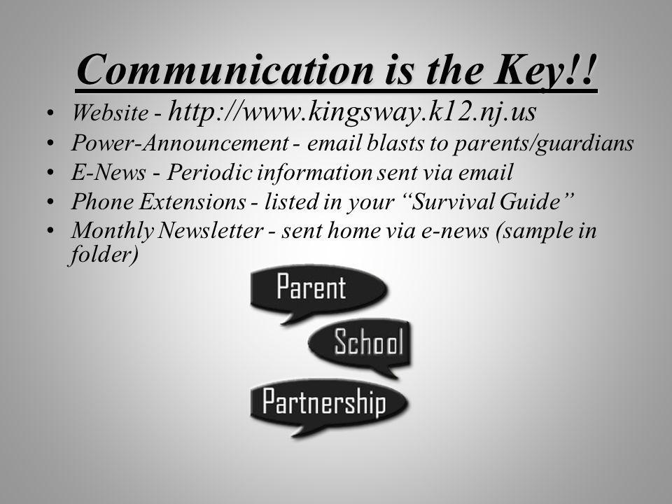 Communication is the Key!.