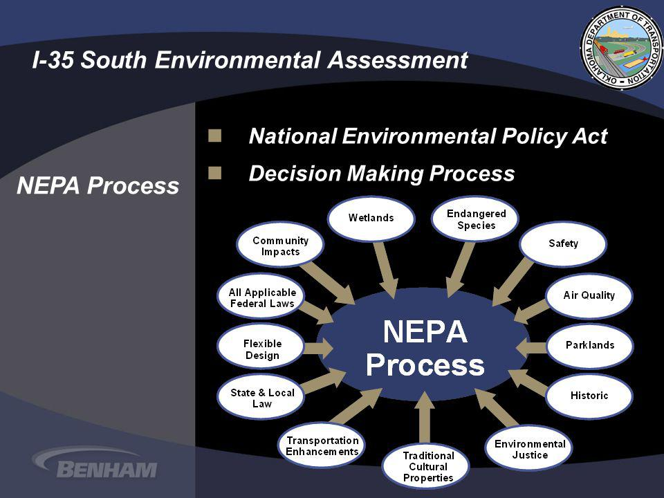 nNational Environmental Policy Act nDecision Making Process I-35 South Environmental Assessment NEPA Process