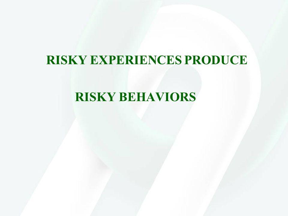 RISKY EXPERIENCES PRODUCE RISKY BEHAVIORS