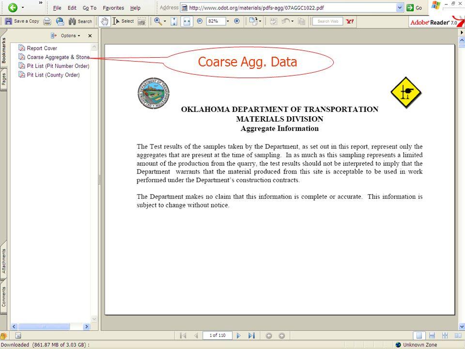Coarse Agg. Data